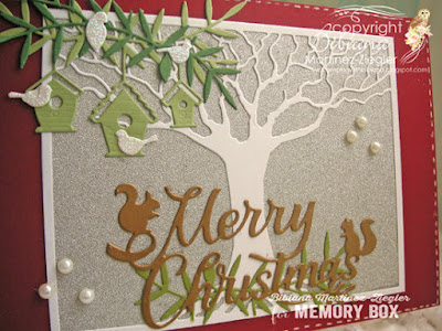 christmas stretching your dies card side view