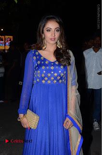 Telugu Actress Tejaswi Madivada Pos in Blue Long Dress at Nanna Nenu Na Boyfriends Audio Launch  0023.JPG