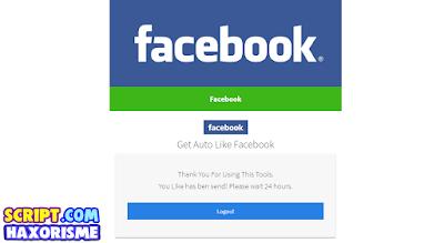 Script Phising Facebook Tampilan Auto Like Terbaru