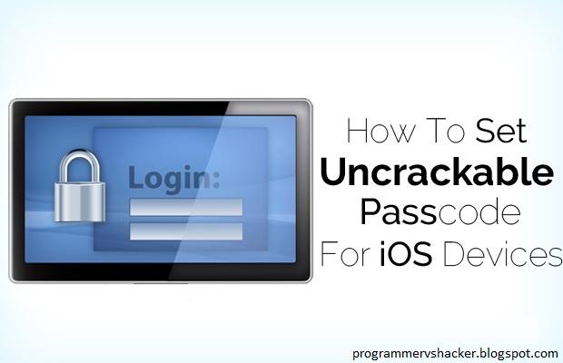 cracking ios passcode