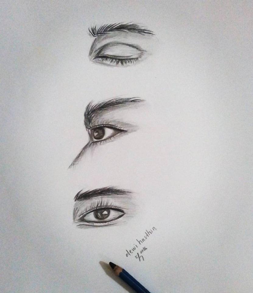 Ceritanya Hasthin Belajar Menggambar Sketsa Mata Dengan Menggunakan