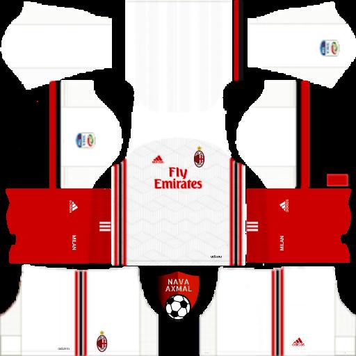 outlet store b3ebf 2531d AC Milan Kits 2017/2018