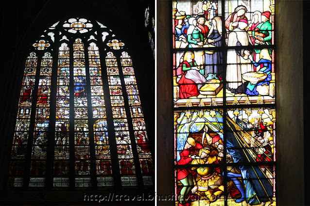 Notre Dame Cathedral Tournai Belgium Rosette Window Stained Glass