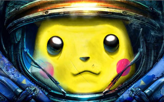 Papel de parede Jogo Starcraft Pikachu