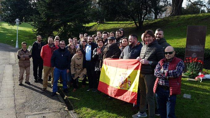 UPyD y Vox celebraron juntos el día de la Carta Magna en Bilbao, junto con un homenaje a las víctimas del terrorismo
