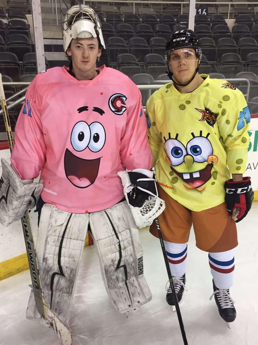 NickALive!: ECHL Ice Hockey Teams Battle In SpongeBob