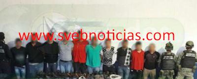 Caen 10 miembros de Los Viagras en Gabriel Zamora Michoacan