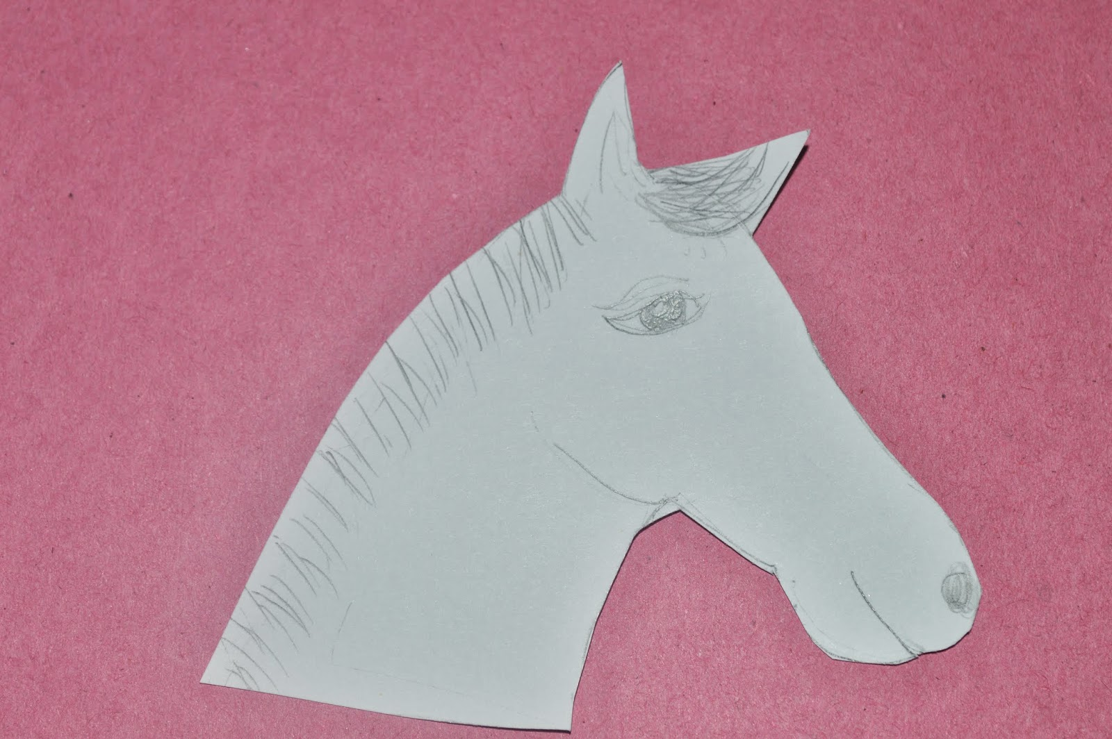 Chinese New Year  Cut Out Horse  Drawing Template