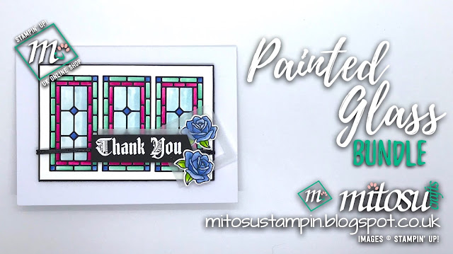 Stampin' Up! Painted Glass Bundle SU Card Idea order craft products from Mitosu Crafts UK Online Shop