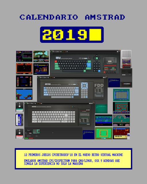 Calendario Amstrad 2019 (CPCRetroDev'18 en RVM)