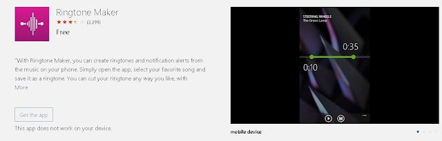 Aplikasi Microsoft Ringtone Maker