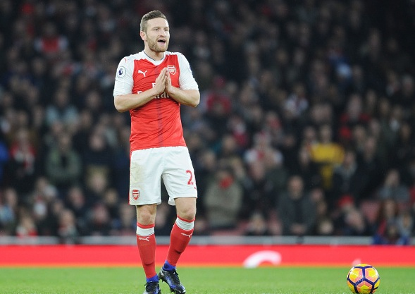 Arsenal star Skodran Mustafi post injury update