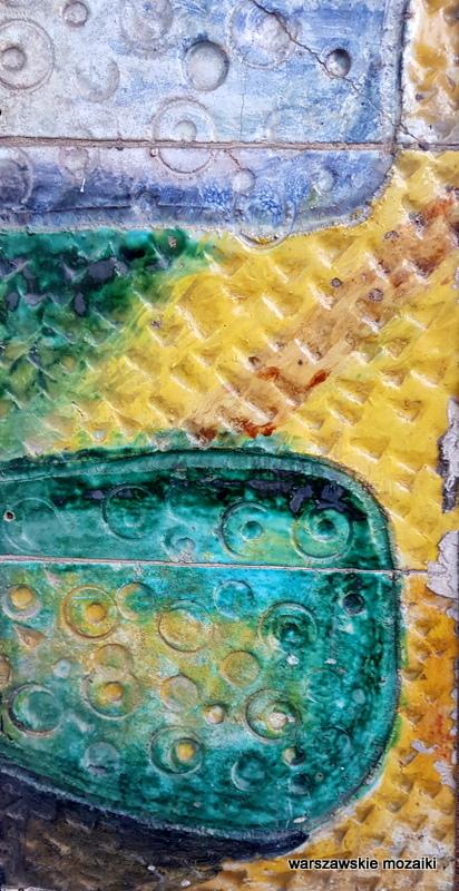 Warszawa Warsaw Ochota ceramika warszawskie mozaiki dekoracja Cepelia