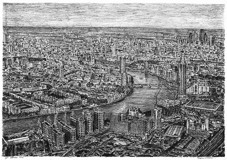 07-Aerial-view-Nine-Elms-London-Stephen-Wiltshire-Urban-Drawings-from-Memory-with-Detailed-Cityscapes-www-designstack-co
