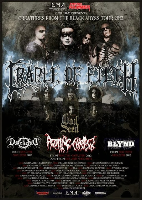 Cradle of Filth / God Seed / Rotting Christ @ The Forum, Londres (Angleterre) 19/12/2012