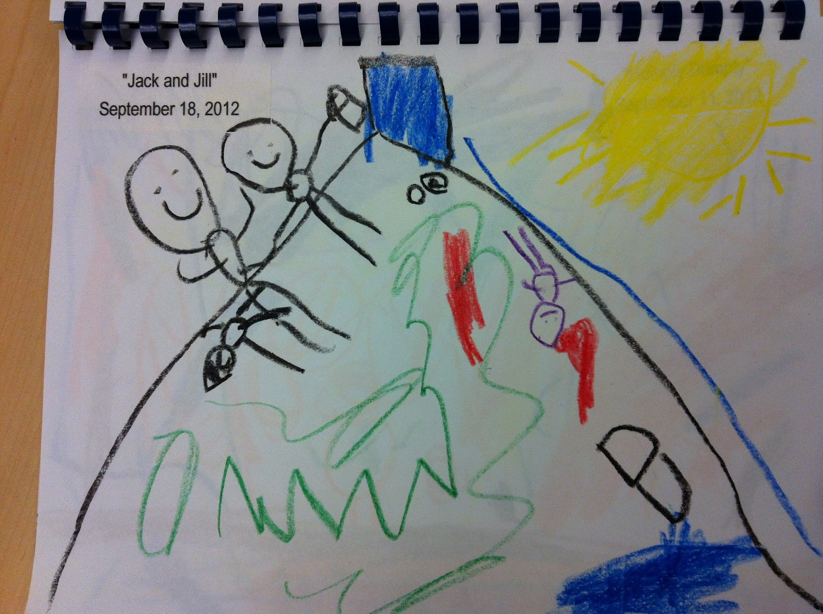 Mrs Doiron S Kindergarten Class Jack And Jill Went Up The Hill