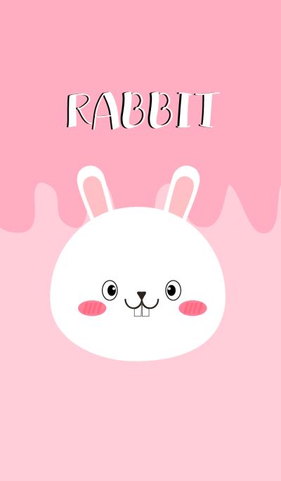 Simple Pretty White Rabbit Theme