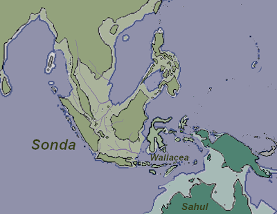Peta ilustrasi Zaman Kala Holosen atau zaman Aluvium
