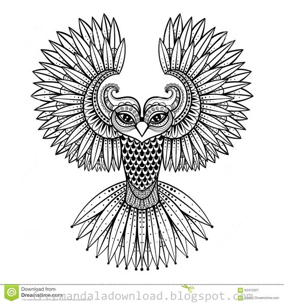 Vogel Mandala Design Download Pdf Bird Mandala Case Pdf