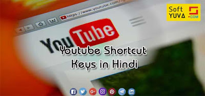 Youtube Shortcut Keys in Hindi