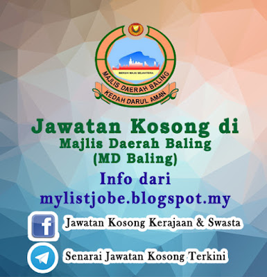 Jawatan Kosong di Majlis Daerah Baling (MD Baling)