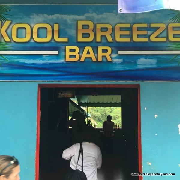exterior of Kool Breeze bar in Paramin Village in Trinidad