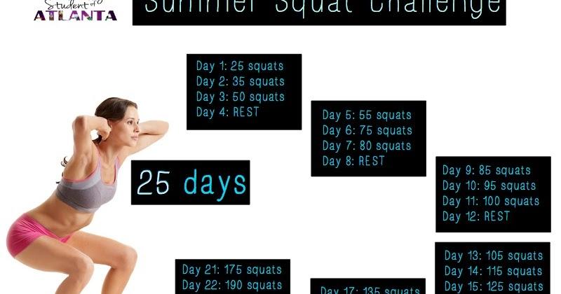 Real College Student of Atlanta: Summer Squat Challenge