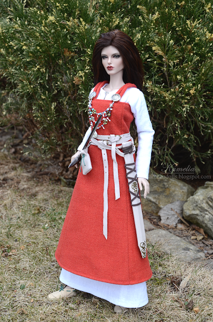 Viking costume for BJD doll
