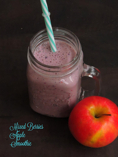 Mixed Berries, Apple Smoothie