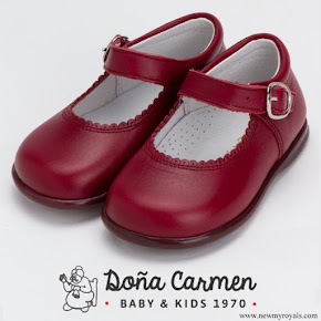 Princess Charlotte wore Doña Carmen Mary Jane Maroon Shoes