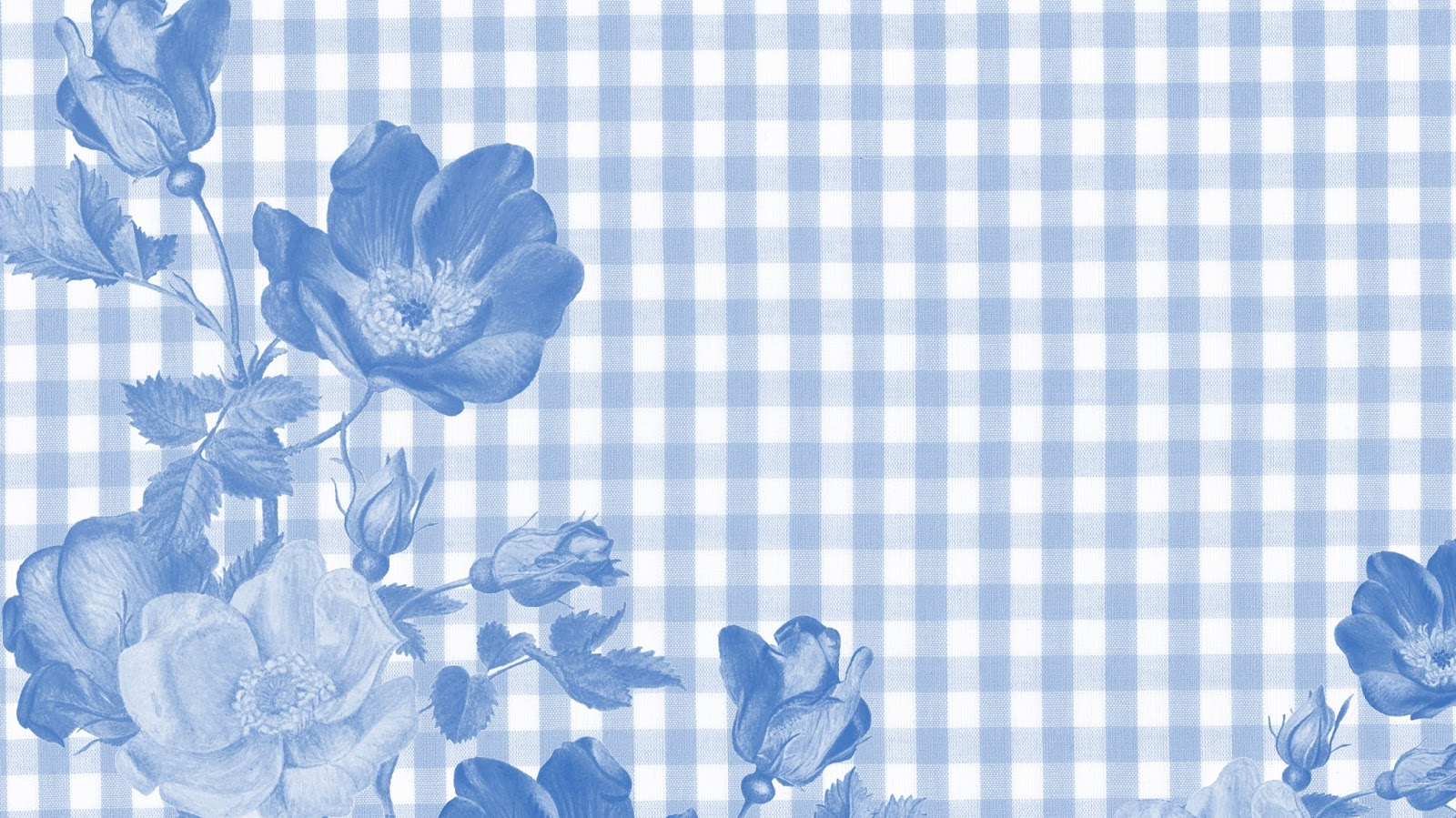 FLORAL GINGHAM - 9 PRETTY PASTEL DESKTOP AND PHONE WALLPAPERS FOR SPRING.
