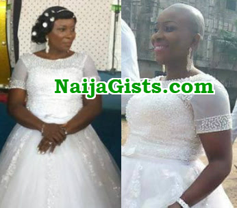 nigerian bride bald wedding