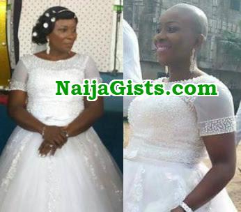 nigerian bride bald wedding