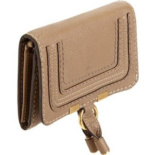 Chloe Leather Wallet Gold Marcie