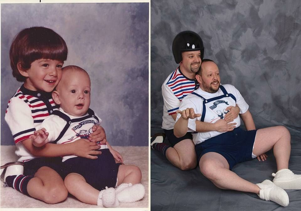 old family photos recreated