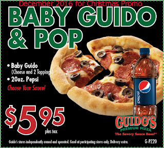 Guidos Pizza coupons for december 2016