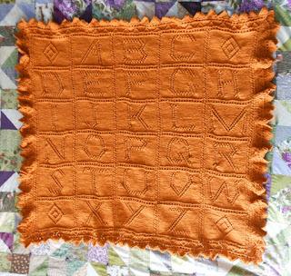 Janet Welsh Knits Alphabet Blanket