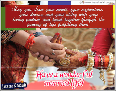 Quotes About Happy Marriage life:  May you share your secrets, your aspirations, your dreams and your wishes with your loving partner, and travel together through the joinery of life fulfilling them!