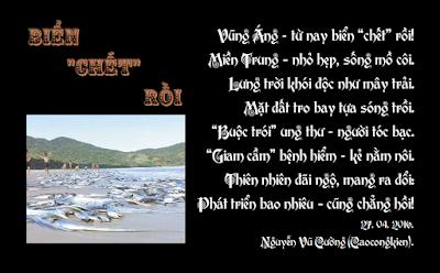 """Vũng Áng - từ nay biển """"chết"""" rồi! Miền Trung - nhỏ hẹp, sống mồ côi."""