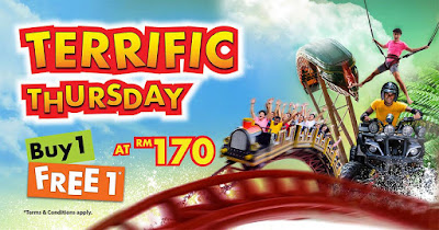 Sunway Lagoon Malaysia Terrific Thursday Buy 1 Free 1 Promo
