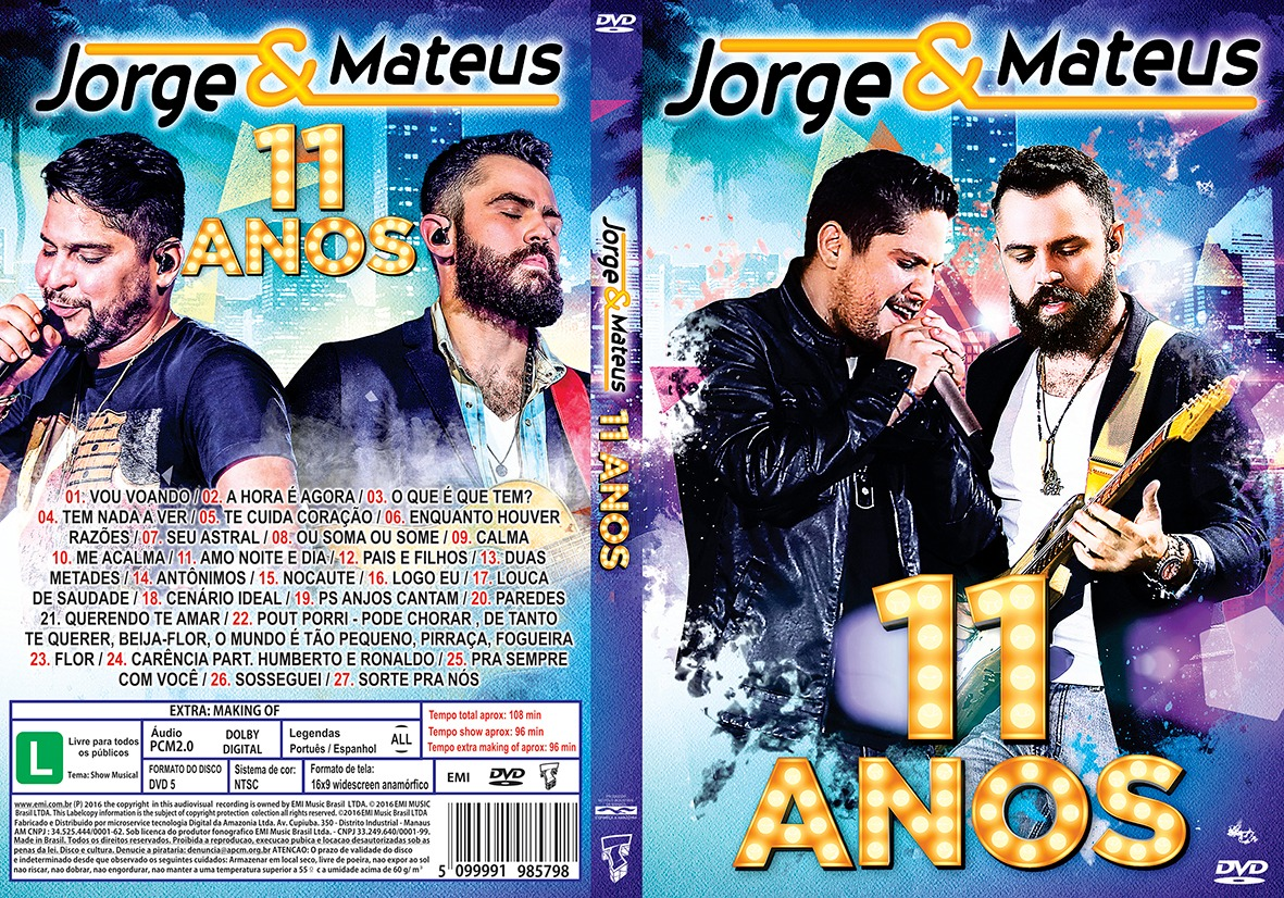 Download Jorge & Mateus 11 Anos DVD-R
