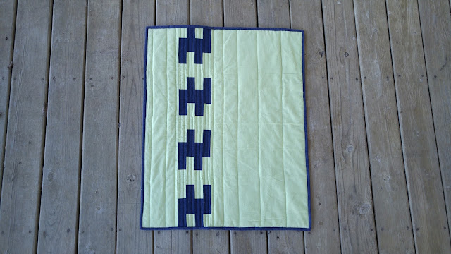 Flannel scraps baby quilt