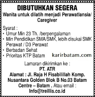 Lowongan Kerja PT. ATR Nusantara Golden
