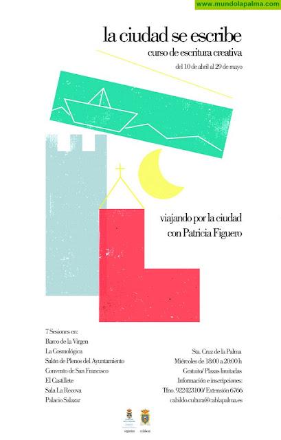 Cultura impulsa un curso gratuito de creación literaria con sesiones en espacios emblemáticos de Santa Cruz de La Palma