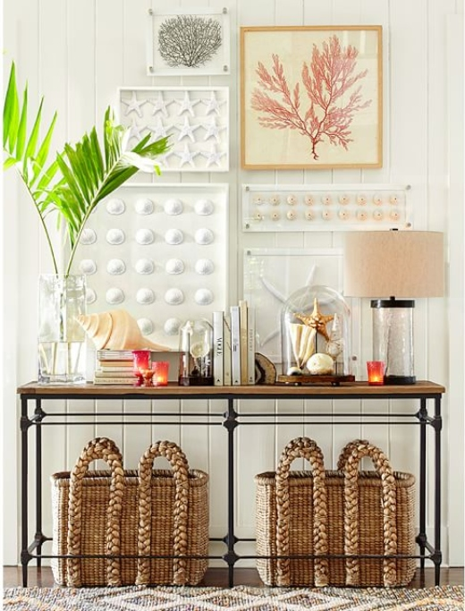 How to Style a Console Table and Wall