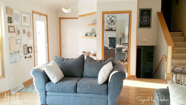 rustic farmhouse before and after living room makeover