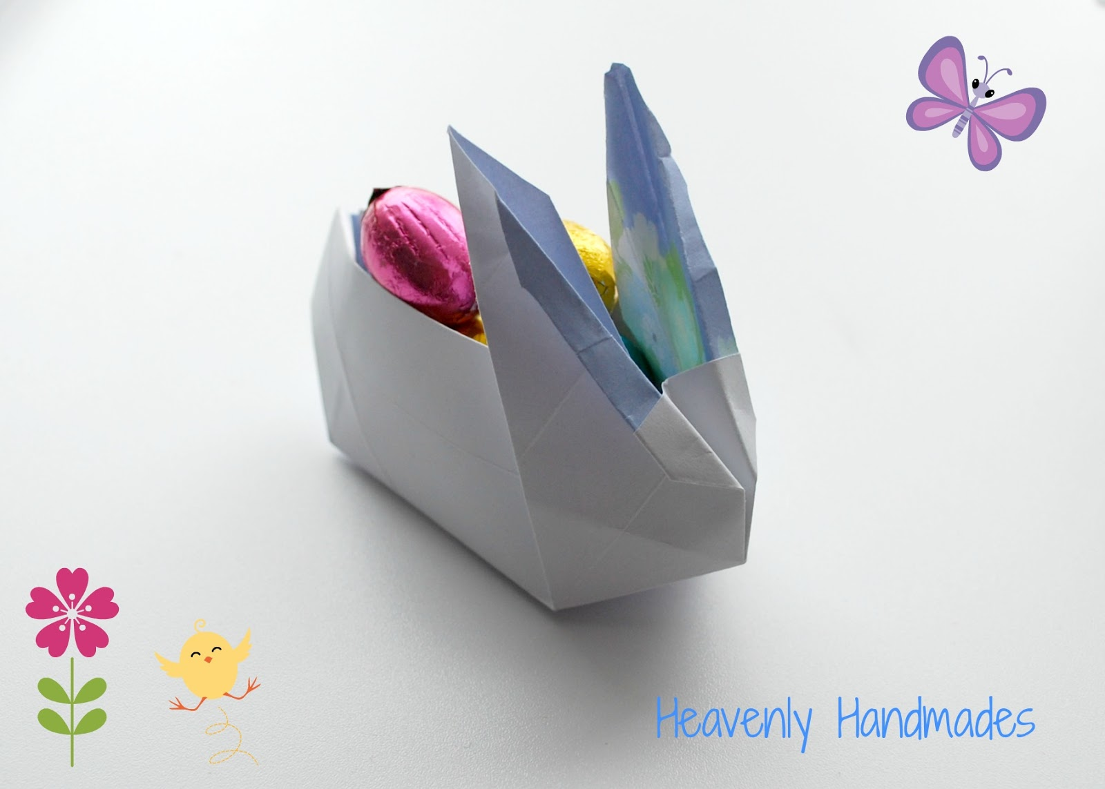 Diy Origami Bunny Heavenly Handmades