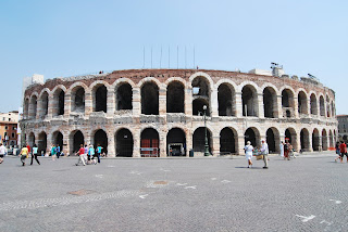 The Roman amphitheatre in Verona