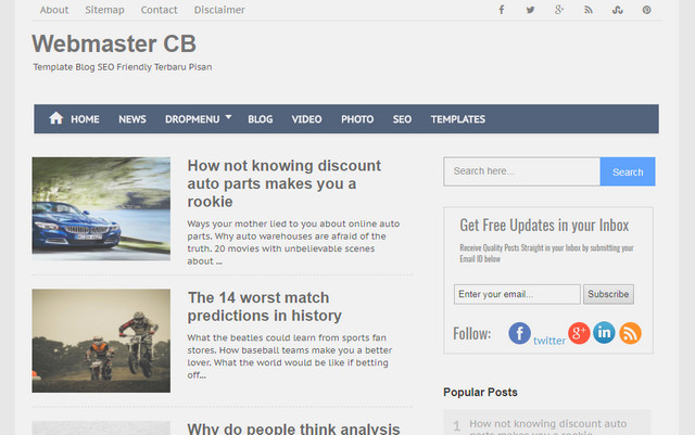 Webmaster CB Clean Responsive Blogger Templates
