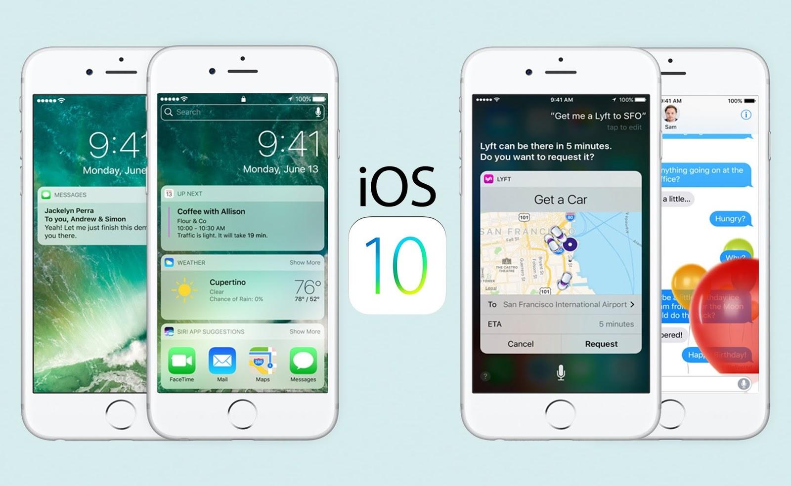 iOS 10 özellikleri